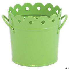 Metal Scalloped Bucket 6