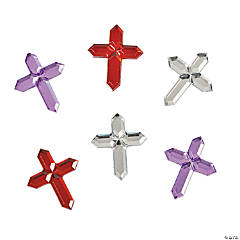 Metal Self-Adhesive Cross Jewels