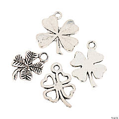 Metal Shamrock Charms - 15mm