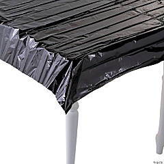 Metallic Black Foil Tablecloth