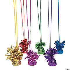 Metallic Colored Balloon Weights Assortment