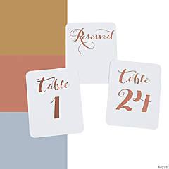 Metallic Foil Table Numbers