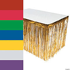 Metallic Fringe Table Skirt