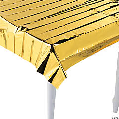Metallic Gold Foil Tablecloth