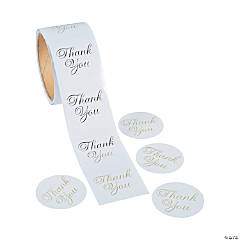 Metallic Gold Foil Thank You Stickers