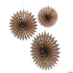 Metallic Gold Hanging Fans