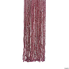 Metallic Maroon Bead Necklaces