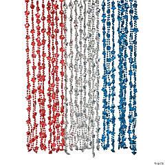 Metallic Patriotic Star Necklaces