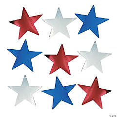 Metallic Patriotic Stars
