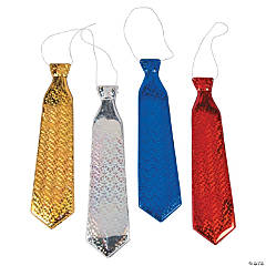 Metallic Plastic Neckties