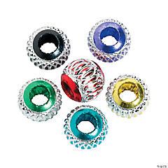 Metallic Round Large Hole Beads