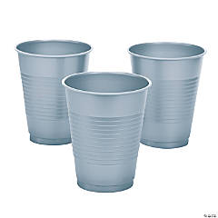 Metallic Silver Cups