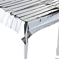 Metallic Silver Foil Tablecloth