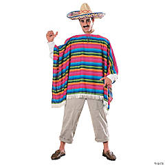 Mexican Poncho Costume for Men