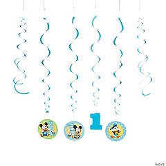 Mickey Mouse's 1st Birthday Swirl Decorations