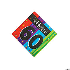 Milestone Celebration 60th Birthday Luncheon Napkins