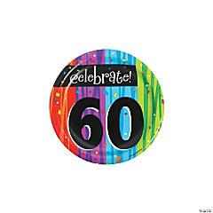 Milestone Celebration 60th Birthday Paper Dessert Plates