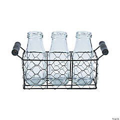 Milk Bottle Set with Stand