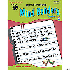 Mind Benders® Verbal, Grades K-2, Set of 2 books