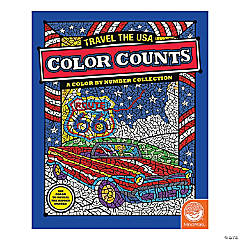 MindWare® Color Counts - Travel the USA Coloring Book