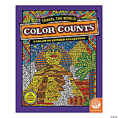 MindWare® Color Counts - Travel The World Coloring Book
