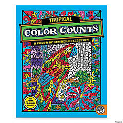 MindWare® Color Counts - Tropical Coloring Book