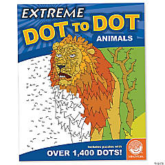 Mindware® Extreme Dot to Dot - Animals Coloring Book