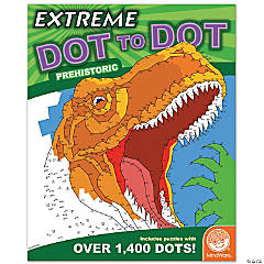 Mindware® Extreme Dot to Dot - Prehistoric Coloring Book