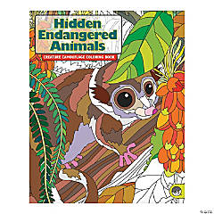 MindWare® Hidden Endangered Animals Adult Coloring Book