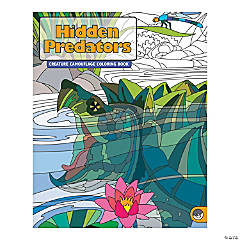 MindWare® Hidden Predators Adult Coloring Book