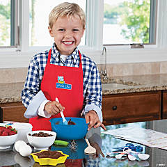 MindWare<sup>&#174;</sup> Playful Chef Deluxe Cooking Kit with Red Apron (Ages 3 to 6)