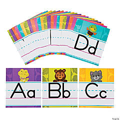 Mini Animal Alphabet Line Bulletin Board Set