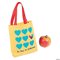 Mini Autism Awareness Tote Bags