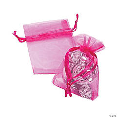 Mini Azalea Organza Drawstring Treat Bags