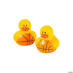 Mini Basketball Rubber Duckies