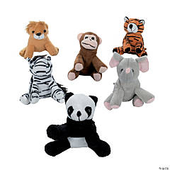 Mini Bean Bag Stuffed Zoo Animals