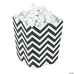 Mini Black Chevron Popcorn Boxes