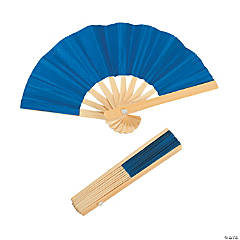 Mini Blue Bamboo Fans