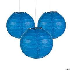 Mini Blue Paper Lanterns - 4 1/2
