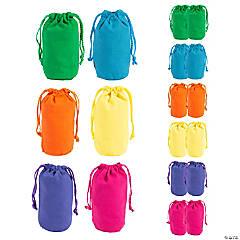 Mini Bright Color Canvas Drawstring Bags