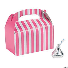 Mini Candy Pink Striped Treat Boxes