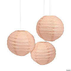 Mini Champagne Hanging Paper Lanterns
