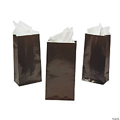 Mini Chocolate Brown Treat Bags