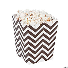 Mini Chocolate Chevron Popcorn Boxes