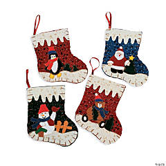 Mini Christmas Stocking Gift Bags