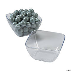 Mini Clear Appetizer Plastic Bowls