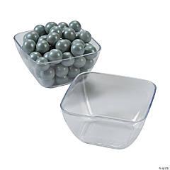 Mini Clear Appetizer Plastic Bowls