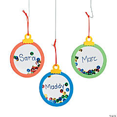 Mini Clear Christmas Ornament Craft Kit