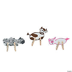 Mini Clothespin Farm Animals Idea