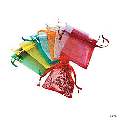 Mini Colorful Organza Drawstring Treat Bags